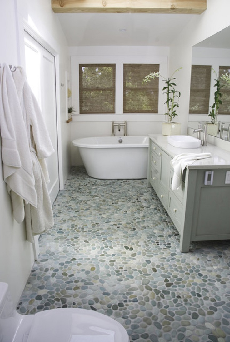 Top 10 unique bathroom design ideas top inspired for Unusual bathroom flooring