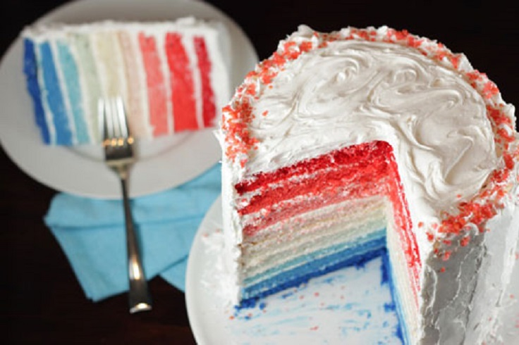 Red-White-and-Blue-Ombre-Cake