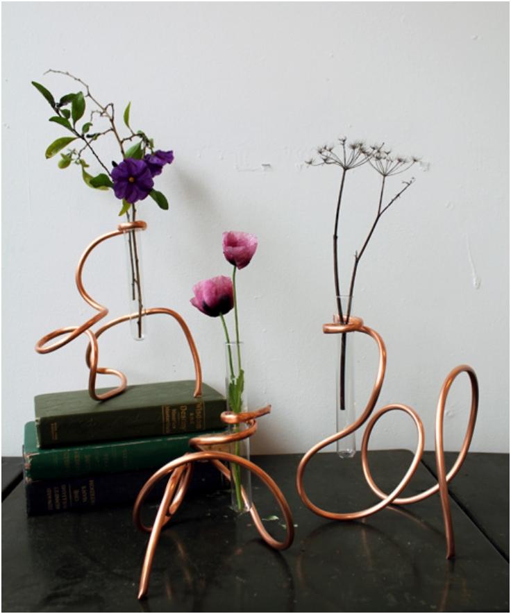 Sculptural-Copper-Coil-Vase
