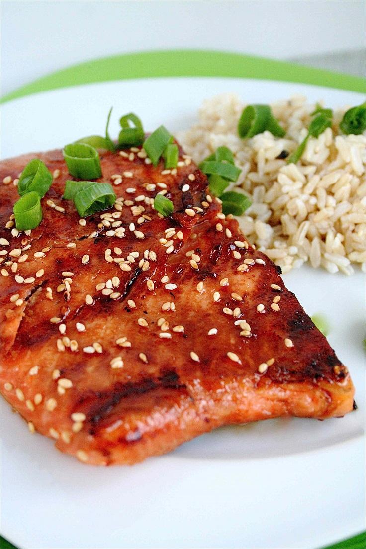 Sweet Soy-Glazed Grilled Salmon
