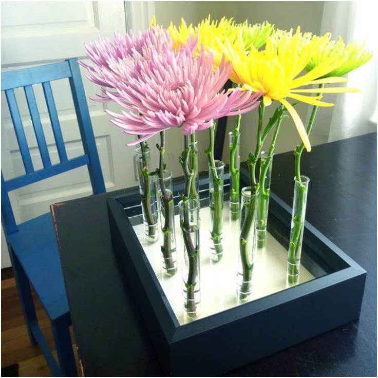 Test-Tube-And-Box-Frame-Vase