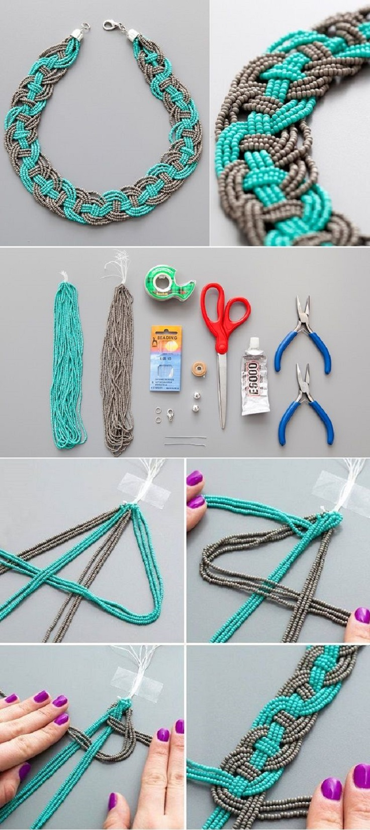Top 10 DIY Summer Colourful Necklaces - Top Inspired