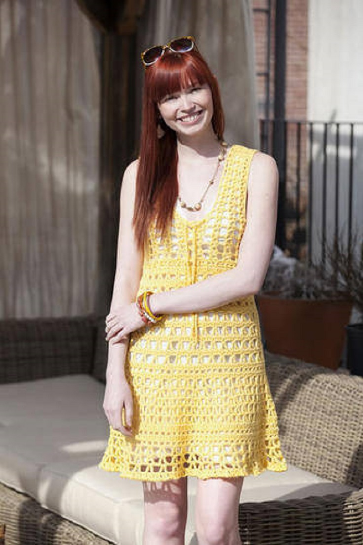 Top 10 free patterns for crochet summer clothes top inspired yellow beach cover up dress top 10 free patterns for crochet summer clothes bankloansurffo Gallery