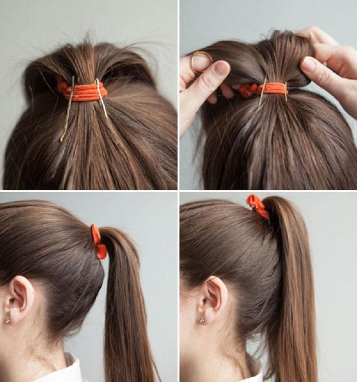 Как сделать хвост с объёмом на голове