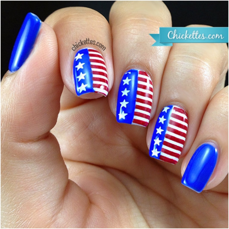 Top 10 Fantastic American Flag Nail Art Tutorials - Top Inspired