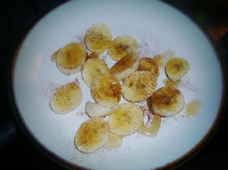 Banana-with-honey-and-cinnamon
