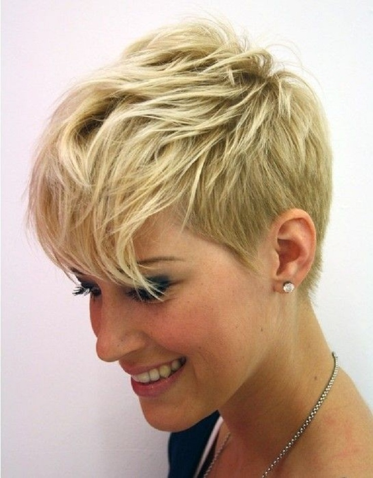Short Cropped Hairstyle: Messy Haircuts
