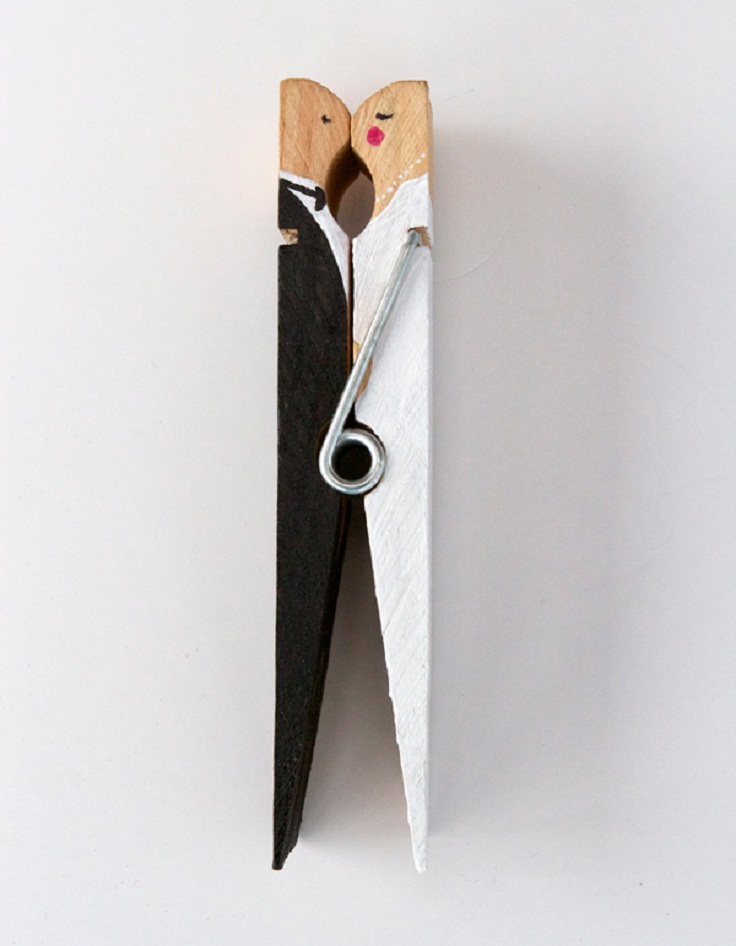 Clothespin-Wedding-Cake-Toppers