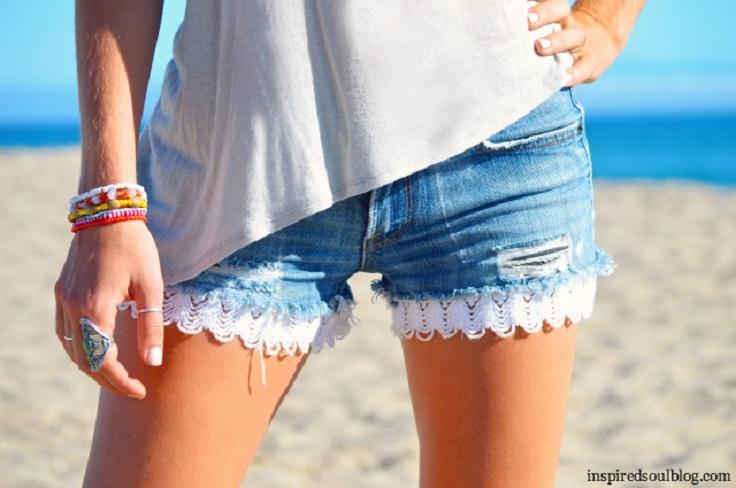 DIY-Crochet-Denim-Shorts