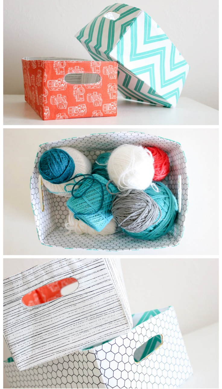 Fabric-Basket-with-Cut-Out-Handles