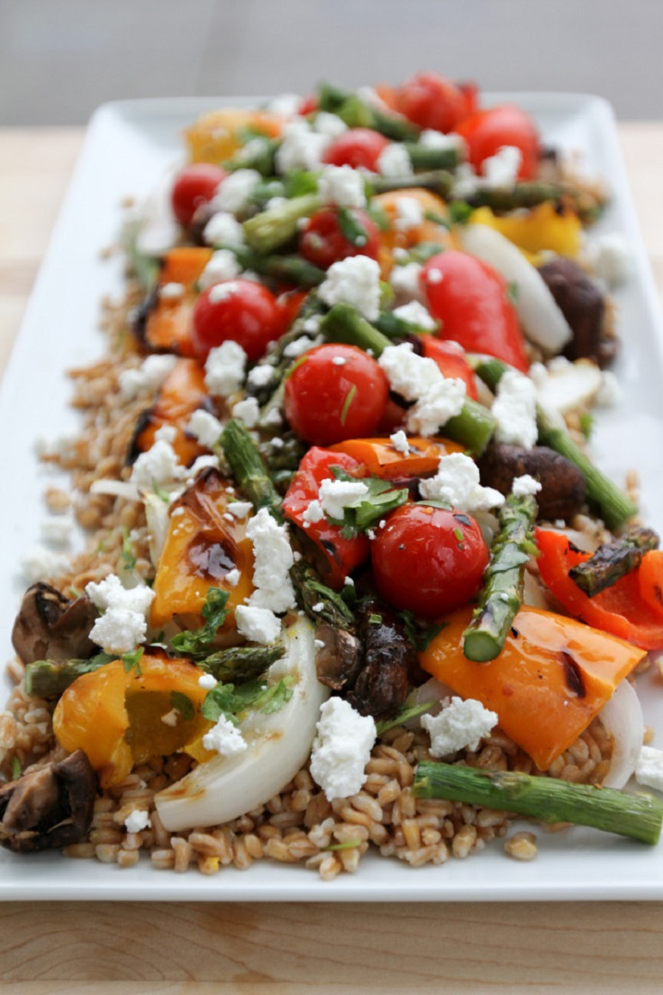 Grilled-Vegetable-Farro-Salad