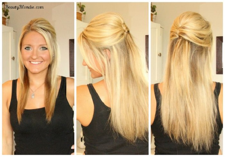 Half Up Half Down Wedding Hairstyles For Medium Length Hair: Top 10 Half Up Half Down Hair Tutorials You Must Have