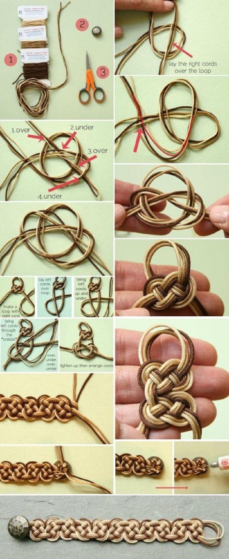 Ombre-Knotted-Bracelet