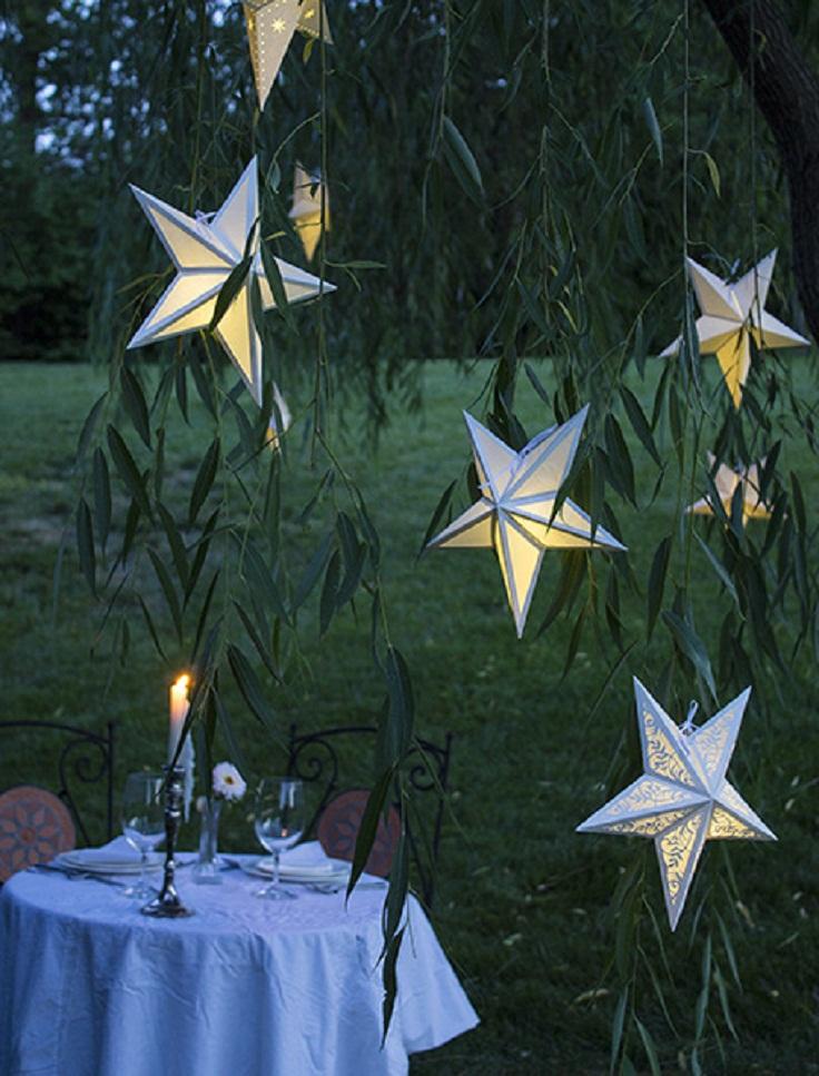 Megajackpots star lanterns outdoor
