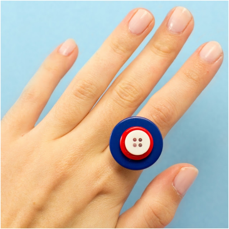 Patriotic-Button-Ring-And-Earrings