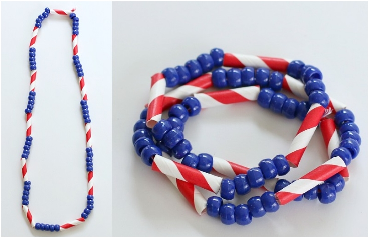 Patriotic-Necklace-Craft