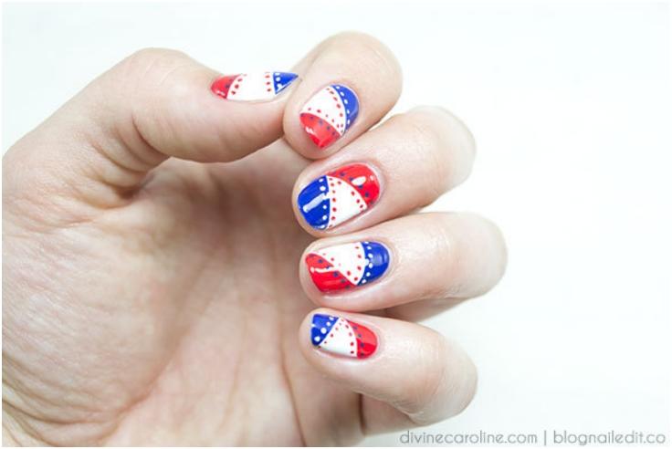 Top 10 Fantastic American Flag Nail Art Tutorials