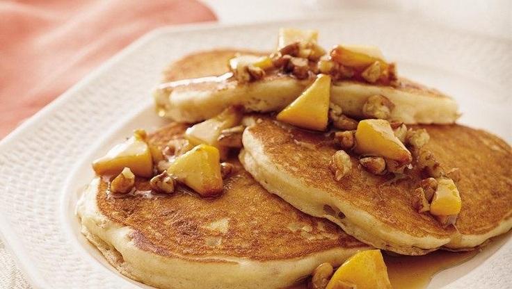 Praline-Peach-Pancakes