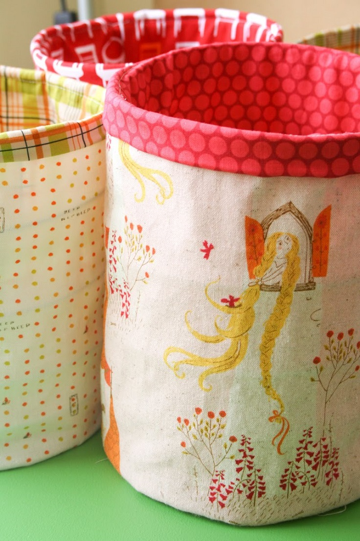 Top 10 DIY Fabric Storage Bins