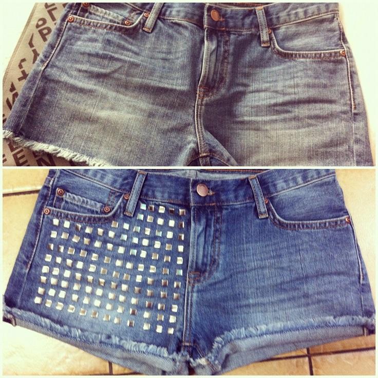 Studded-Denim-Shorts