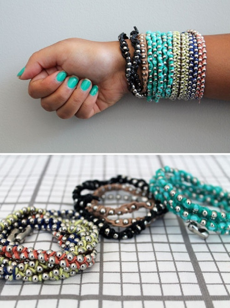 Top 10 DIY Trendy Bracelet Tutorials - Top Inspired