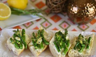 Asparagus and Brie Bruschetta