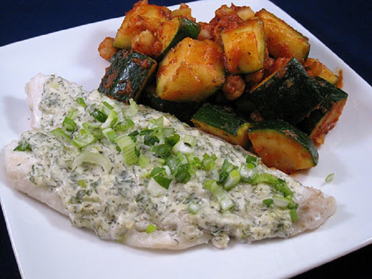 Baked-Haddock-with-Dill-Sour-Cream