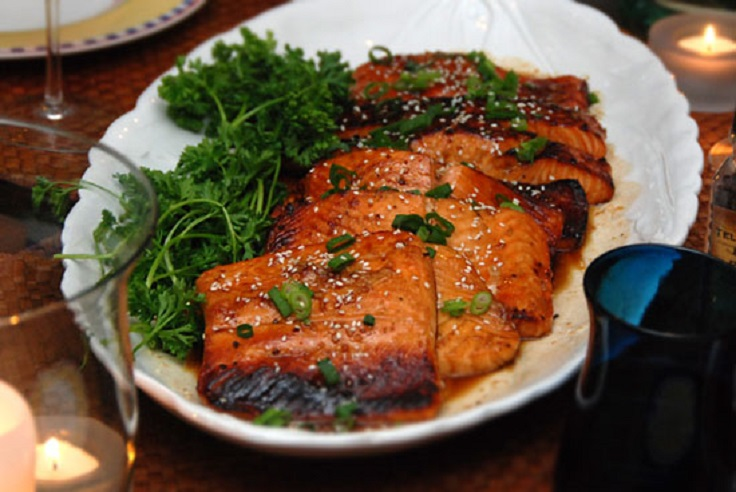 Bourbon-Glazed-Salmon