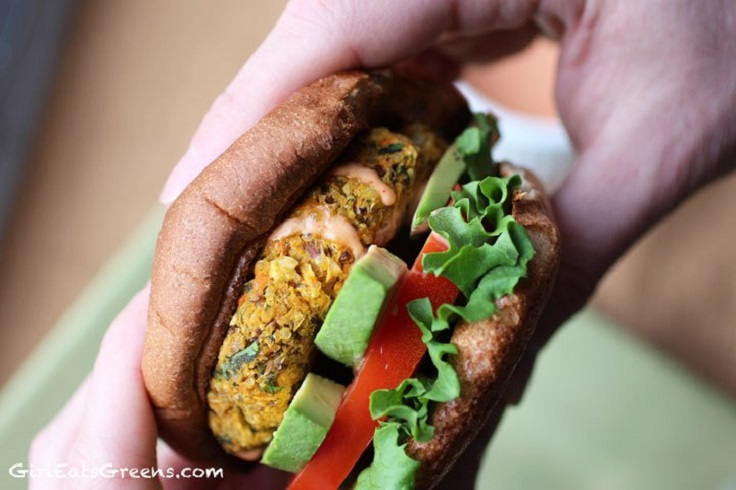 Chickpea-Sweet-Potato-Quinoa-Burger