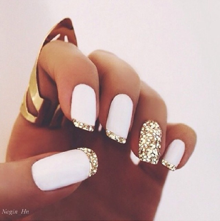 Top 10 Simple Ways to Spice Up White Nails | Top Inspired