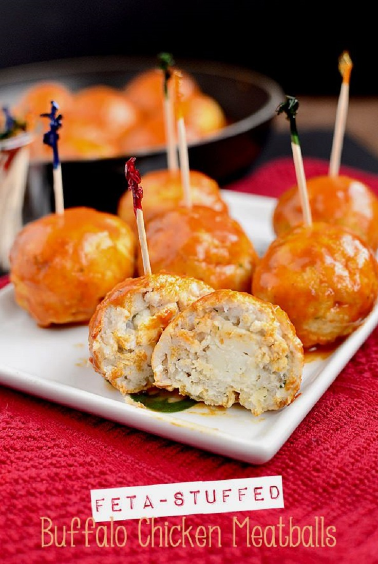 Feta-Stuffed-Buffalo-Chicken-Meatballs