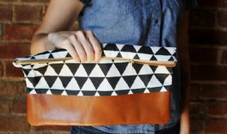 Leather Bottom Clutch