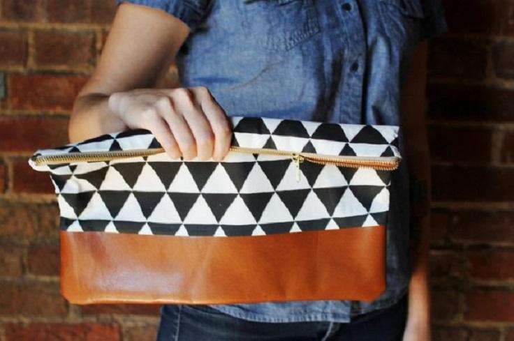 Leather-Bottom-Clutch
