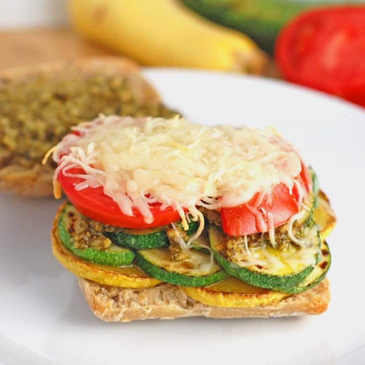 Parmesan-Pesto-Veggie-Sandwich