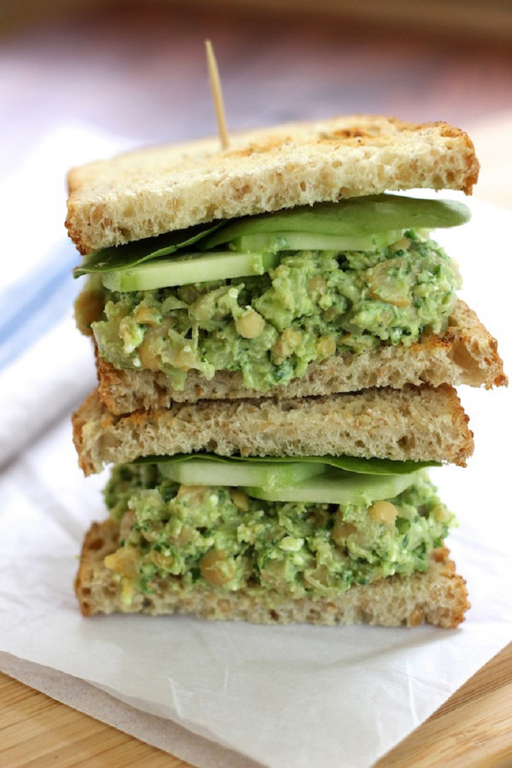 Smashed-Chickpea-Avocado-Sandwich