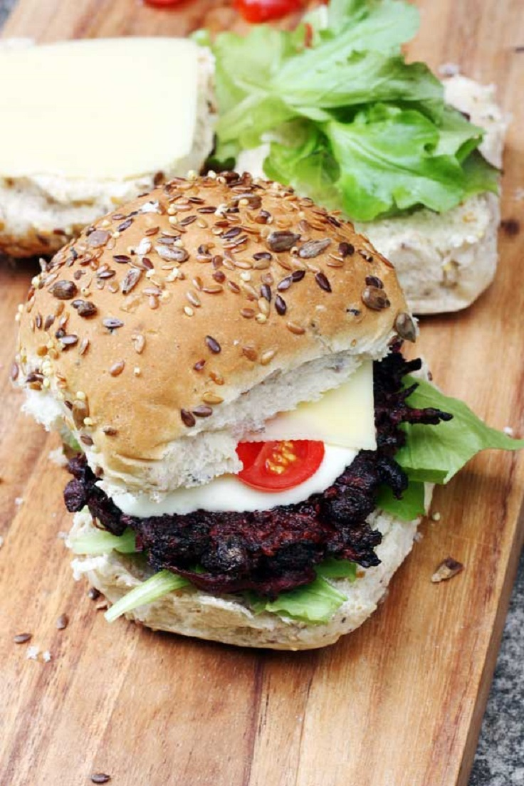 Spicy-Beetroot-Black-Bean-Burgers