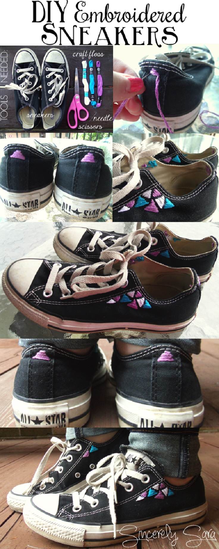 DIY Makeovers For Your Old Converse Shades of Dark Art