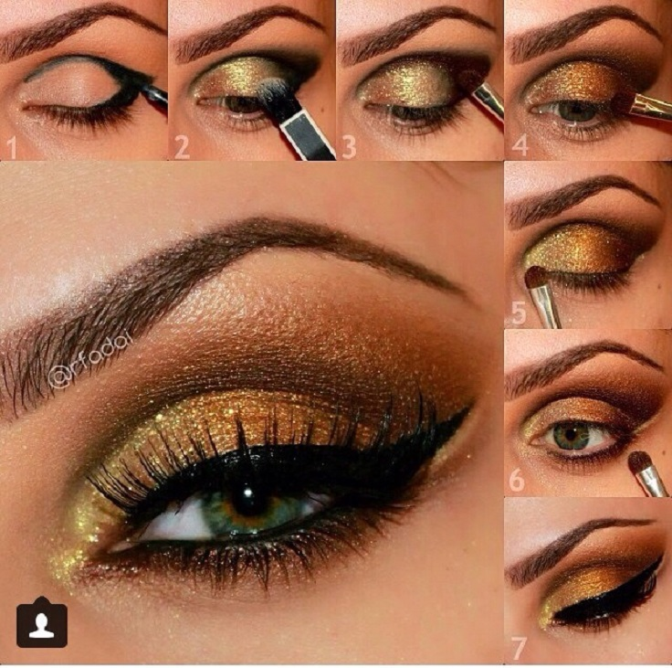 Top 10 Effortless and Fast Golden Eyeshadow Tutorials ...