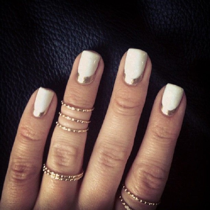 Reverse french manicure 5