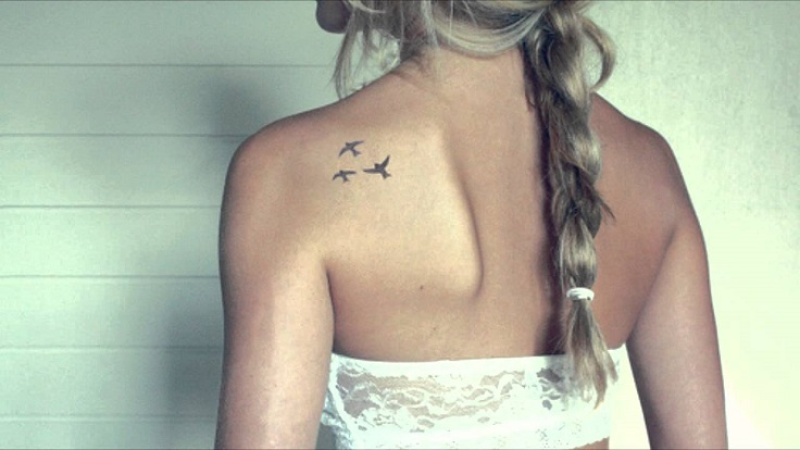 small birds tattoo on shoulder
