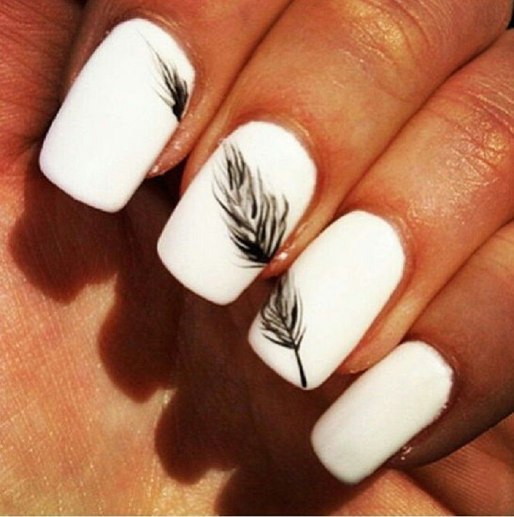 white-nails-with-feather-4