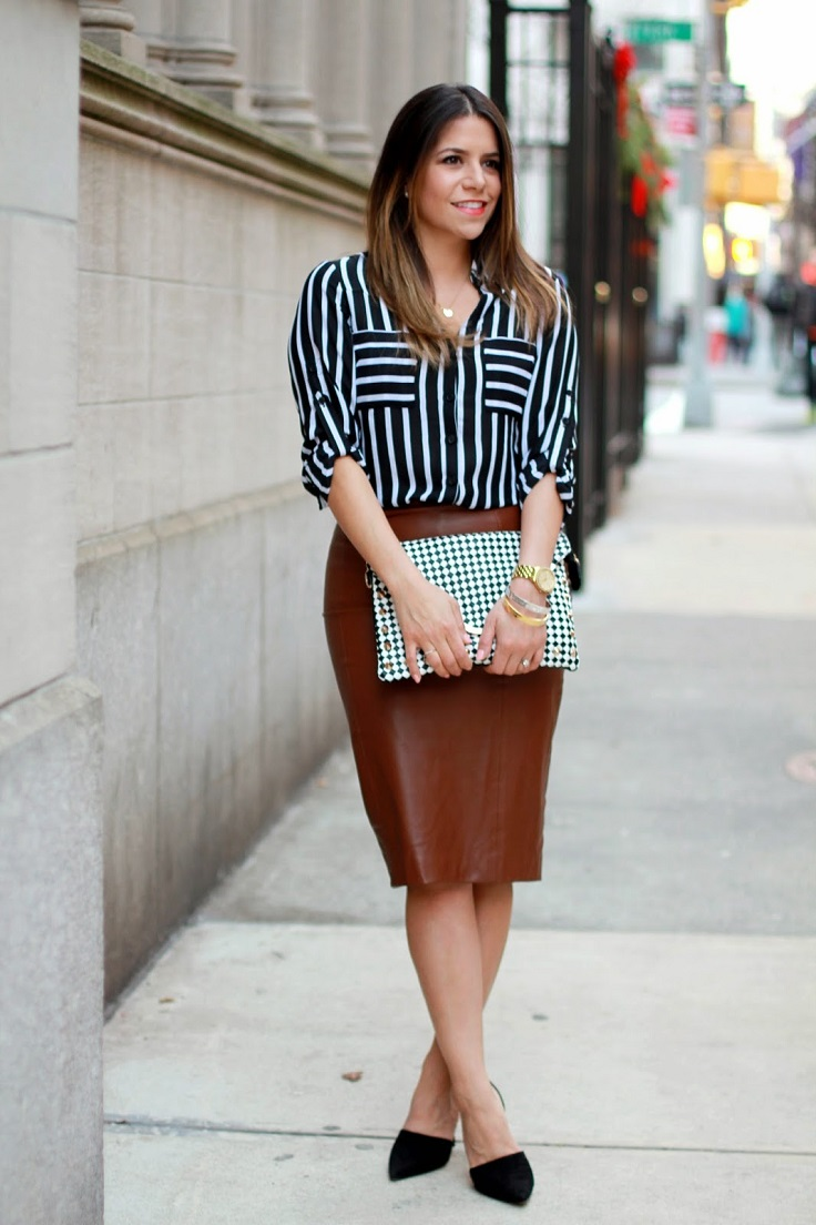 Top 10 Totally Trendy Ways to Wear Leather Shorts and Skirts in ...
