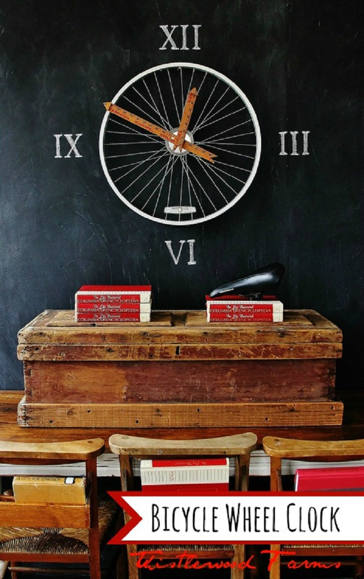 Bicycle-wheel-clock-diy