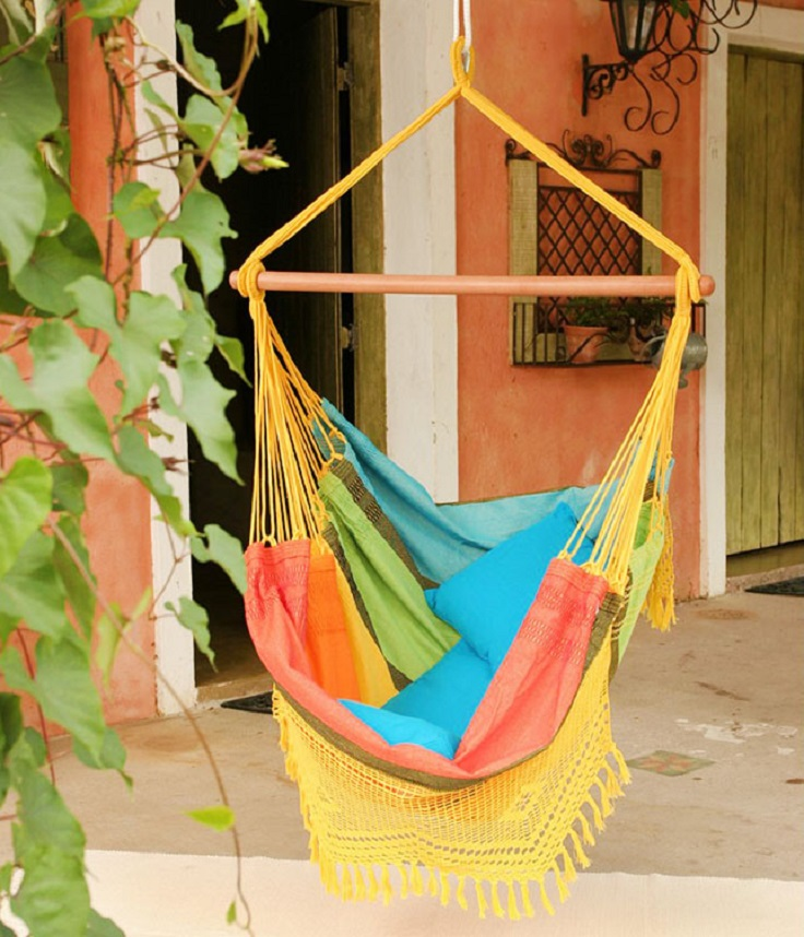 Top 10 diy lounge hammocks top inspired for Homemade hammock chair