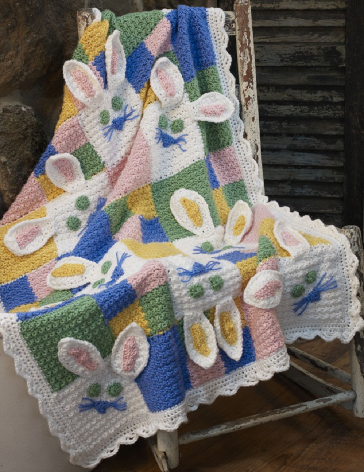 Free Crochet Easter Afghan Patterns : Top 10 Free Crochet Afghan Baby Blanket Pattern - Top Inspired