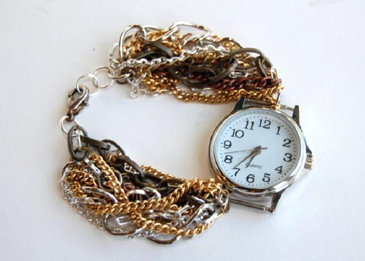 Multi-Strand-Chain-Watch