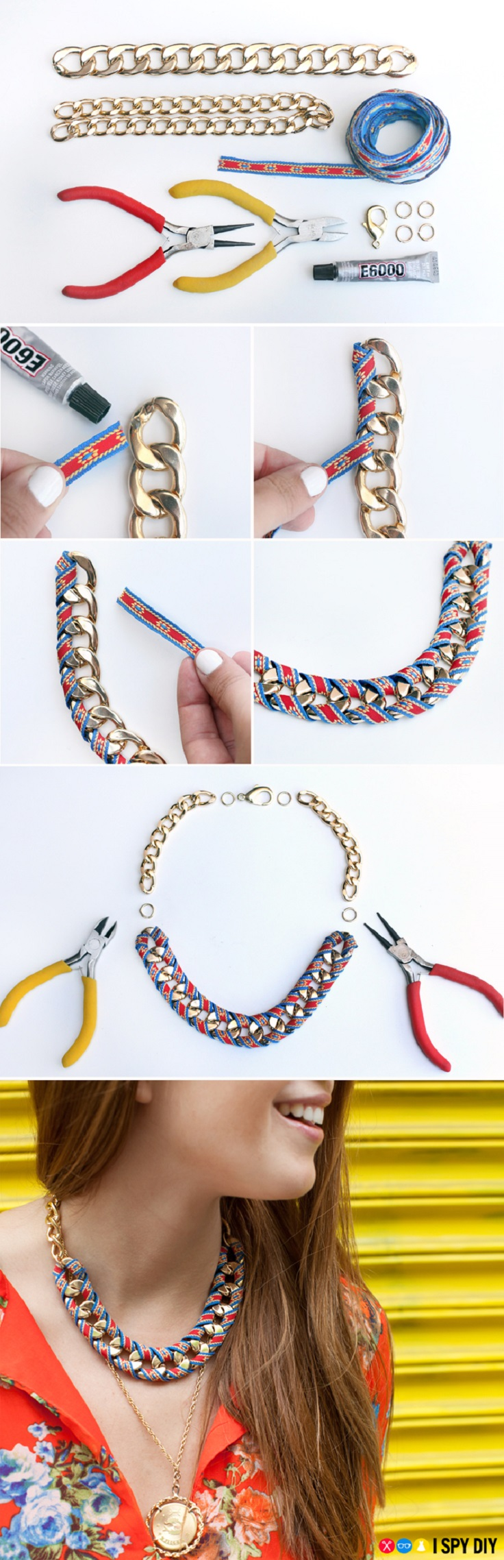 Ribbon-Wrapped-Chain-Necklace