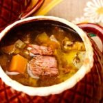 Russian cabbage soup with beef