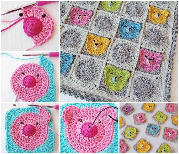 Teddy-Bear-Granny-Squares-Blanket