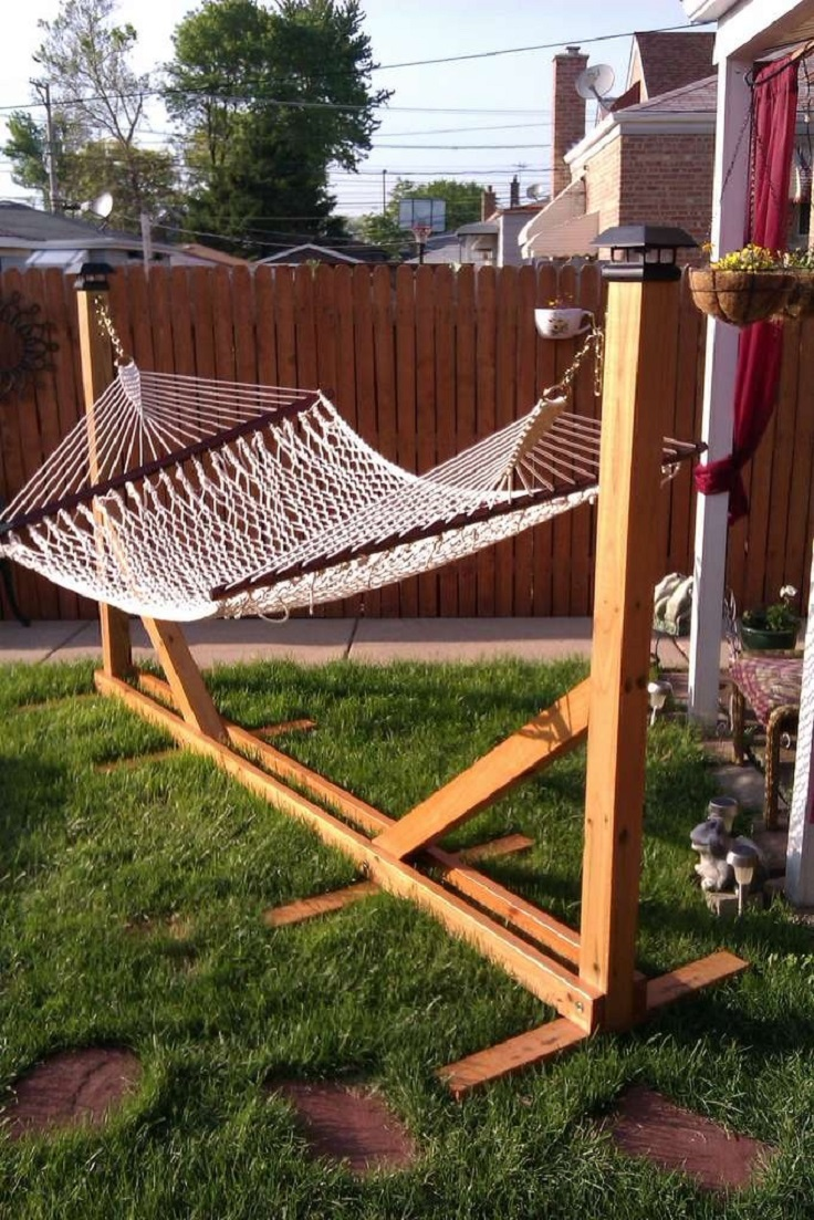 wooden hammock stand top 10 diy lounge hammocks